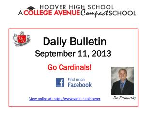 Daily Bulletin September 11,  2013