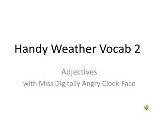 Handy Weather Vocab 2
