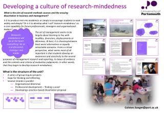 Developing a  culture of research-mindedness