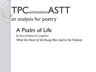 TPC onnotation ASTT an analysis for poetry