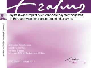 System-wide impact of chronic care payment schemes in Europe: evidence from an empirical analysis