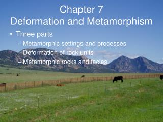 Chapter 7 Deformation and Metamorphism