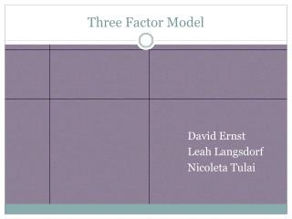 Three Factor Model