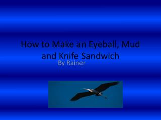 How to Make an Eyeball, Mud and Knife Sandwich