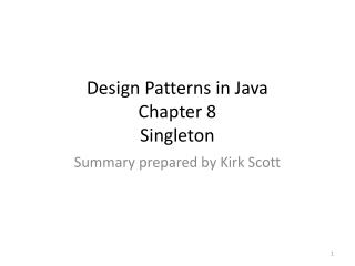 Design Patterns in Java Chapter 8 Singleton