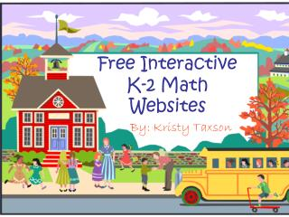 Free Interactive K-2  Math  Websites