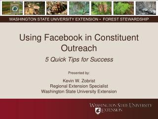 Using Facebook in  Constituent Outreach 5 Quick Tips for Success