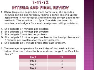 1-11-12 INTERIM and Final  Review
