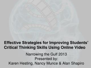 Effective Strategies for Improving Students' Critical Thinking Skills Using Online Video