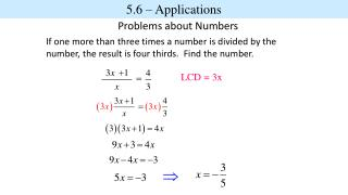 Problems about Numbers