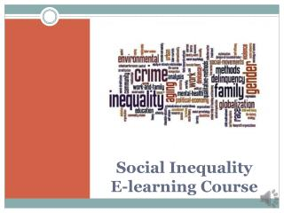 Social  Inequality E-learning Course