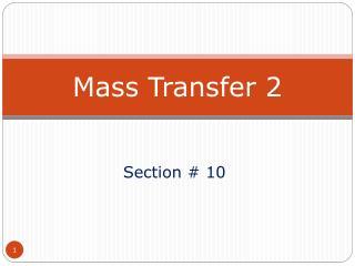 Mass  Transfer 2