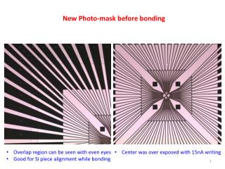 New Photo-mask before bonding