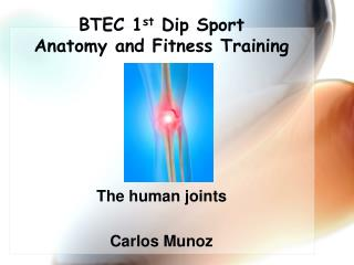BTEC 1 st  Dip Sport  Anatomy and Fitness Training