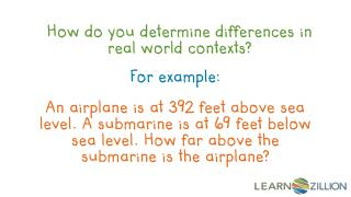 How do you determine differences in real world contexts?