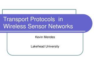 Transpo rt Protocols in