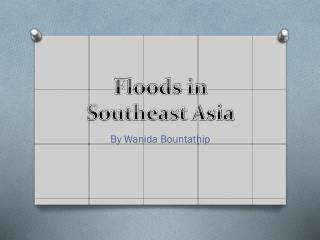 Floods in Southeast Asia