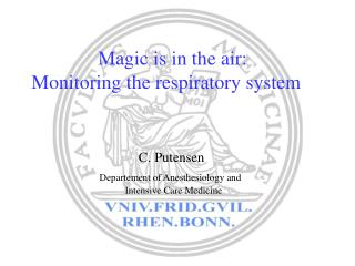 Magic is in the air: Monitoring the respiratory system