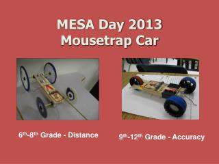 MESA Day  2013 Mousetrap  Car