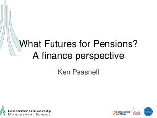 What Futures for Pensions? A finance perspective