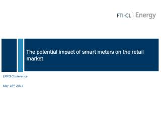 The potential impact of smart meters on the retail market