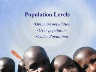 Population Levels
