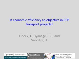 Is economic  efficiency an objective in PPP  transport  projects?