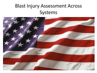 Blast Injury Assessment Across Systems
