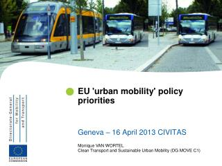 EU 'urban mobility' policy priorities