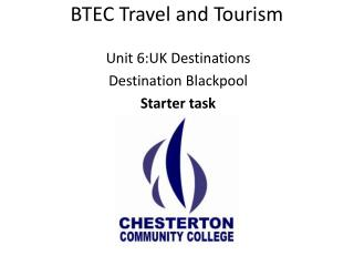 BTEC Travel and Tourism