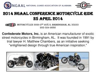 2014 NGAAL CONFERENCE MOTORCYCLE RIDE