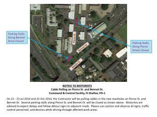 Parking Stalls Along Pierce Street Closed