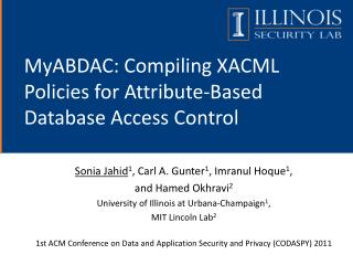 MyABDAC: Compiling XACML Policies for Attribute-Based Database Access Control