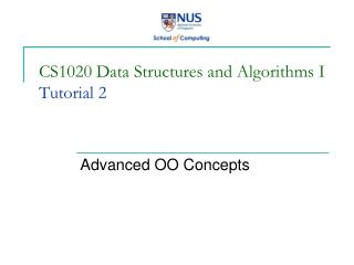 CS1020 Data Structures and Algorithms I Tutorial 2