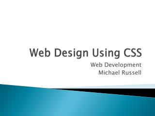 Web Design Using CSS