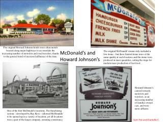 McDonald's and Howard Johnson's