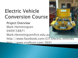 Electric Vehicle Conversion Course