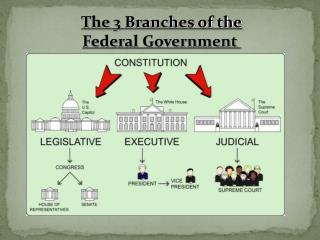 The 3 Branches of the Federal Government
