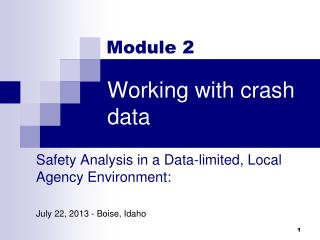 Working with crash data