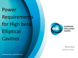 Power Requirements for High beta Elliptical Cavities