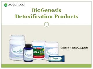 BioGenesis Detoxification Products