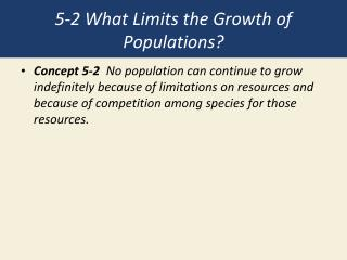 5-2 What Limits the Growth of Populations?