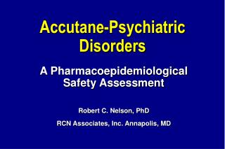 Accutane-Psychiatric Disorders