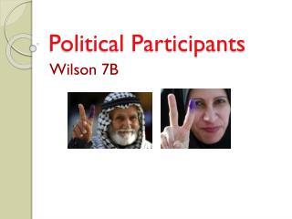 Political Participants