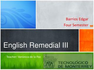 English Remedial III