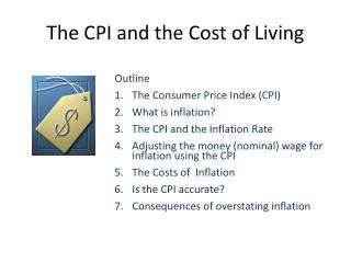 The CPI and the Cost of Living