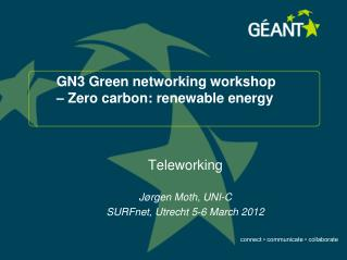 GN3 Green networking workshop –  Zero carbon: renewable energy