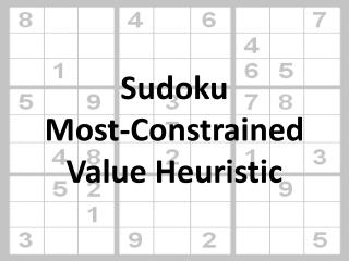 Sudoku Most-Constrained Value Heuristic