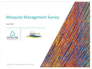 Mosquito Management Survey