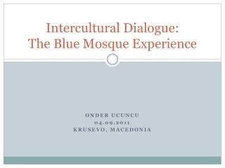 Intercultural Dialogue:  The Blue Mosque Experience